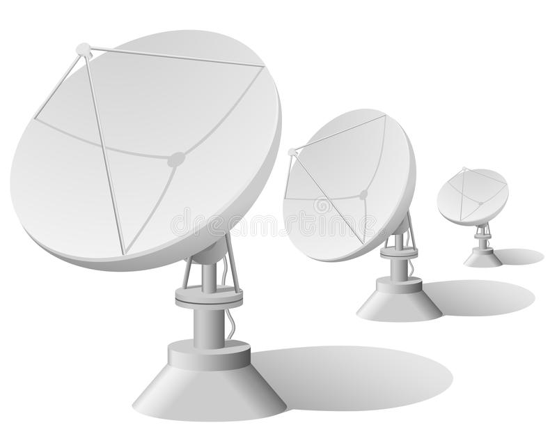 Satellite dishes royalty free illustration