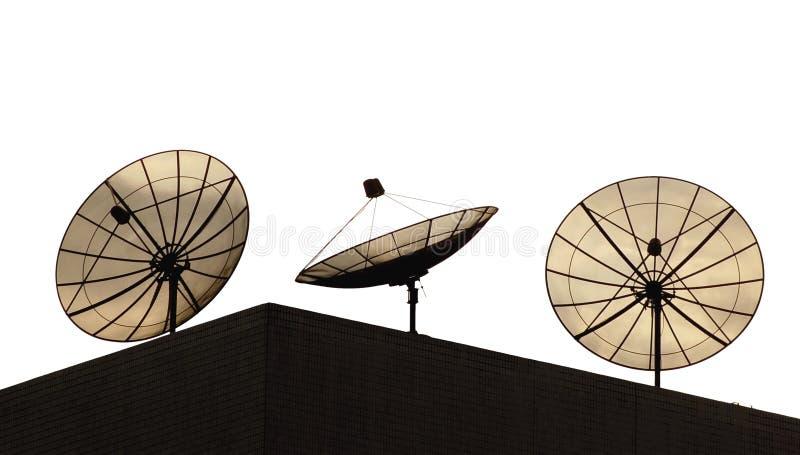 Satellite dishes stock image