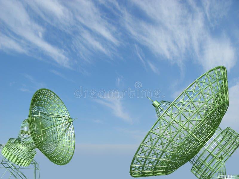 Satellite dishes stock illustration