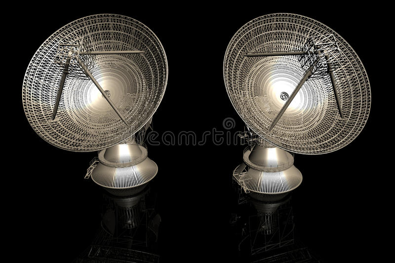 Satellite dishes vector illustration