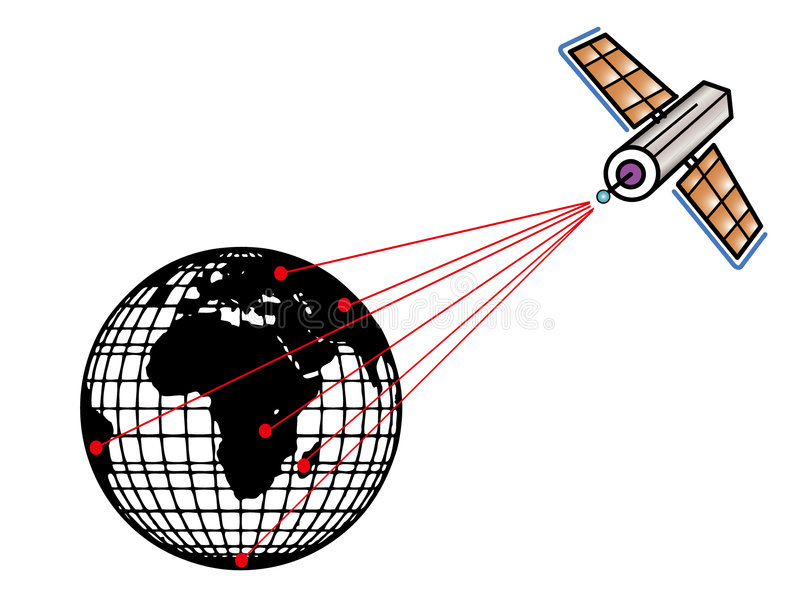 Satellite And Earth Royalty Free Stock Photography
