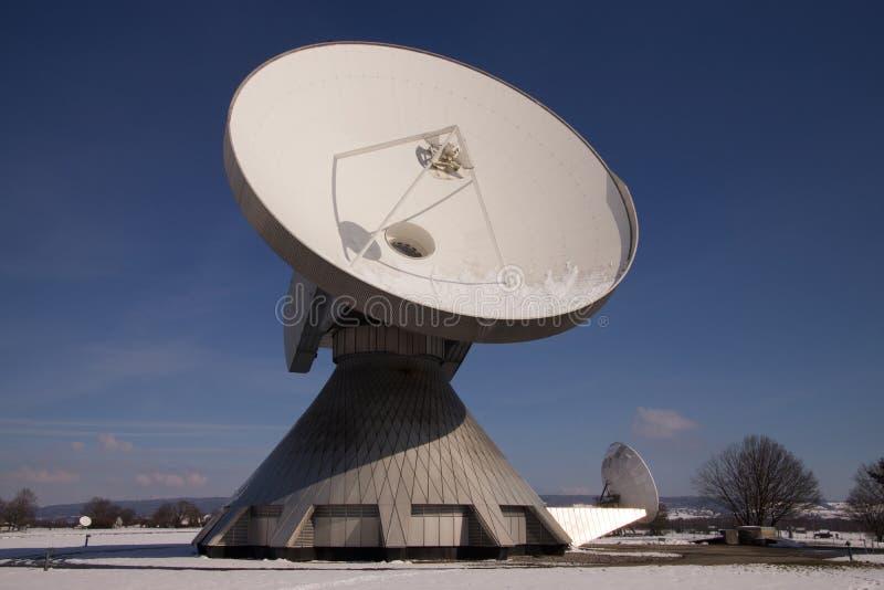 Satellite Earth Station Raisting. The Satellite Earth Station Raisting is a ground communication parabolic antenna complex for telecommunication royalty free stock photos