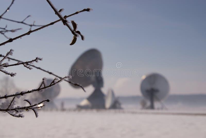 Satellite Earth Station Raisting. The Satellite Earth Station Raisting is a ground communication parabolic antenna complex for telecommunication stock images