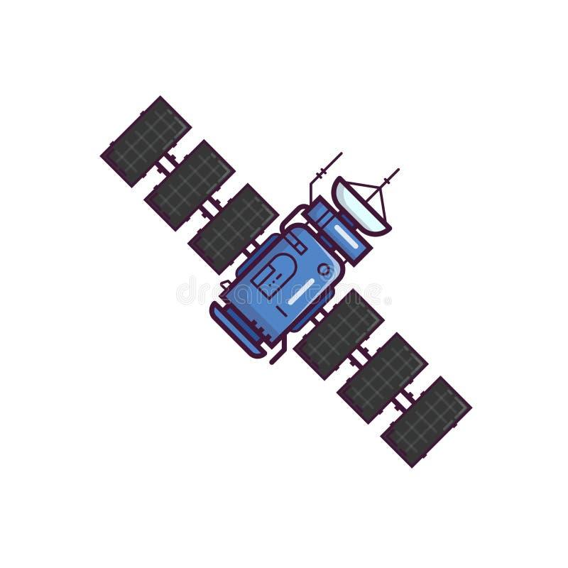 Satellite en orbite illustration stock