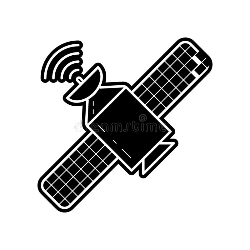 Satellite icon. Element of Media tool for mobile concept and web apps icon. Glyph, flat icon for website design and development,. App development on white royalty free illustration
