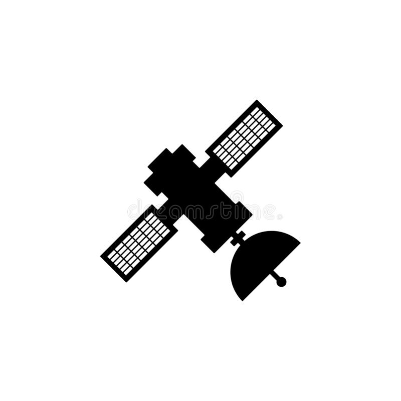 Satellite icon. Simple glyph, flat vector of Technology icons for UI and UX, website or mobile application. On white background stock illustration