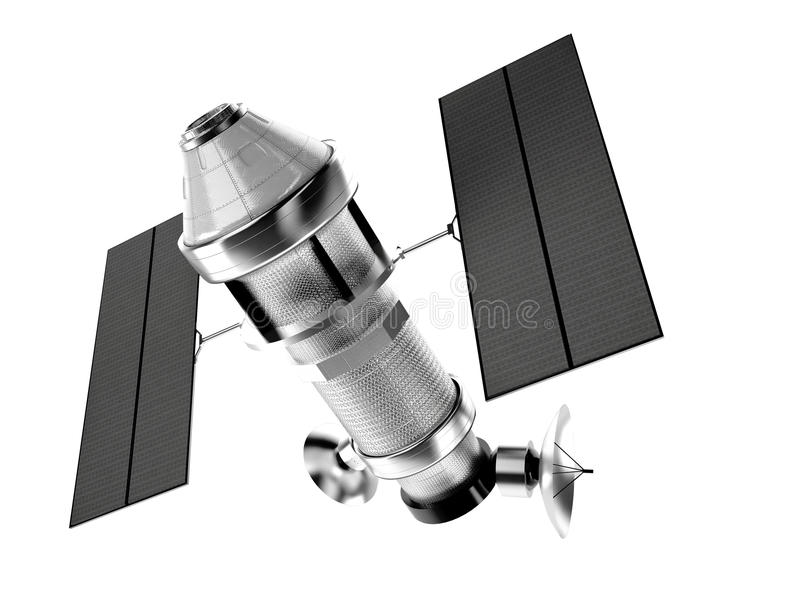 Download Satellite Isolated On White Background Stock Illustration - Image: 33858110