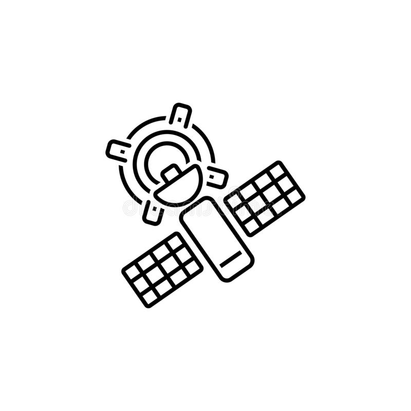 Satellite, location, pointer icon. Element of Web Navigation icon for mobile concept and web apps. Detailed Satellite, location,. Pointer icon can be used for stock illustration