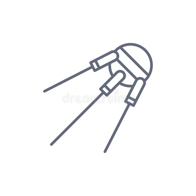 Satellite solid icon, navigation and communication, vector graphics, a filled pattern on a white background stock illustration