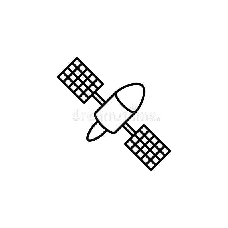 Satellite technology new icon. Element of satellite thin line icon. Satellite technology new icon. Element of satellite icon on white background vector illustration