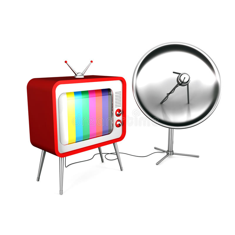 Satellite television vector illustration