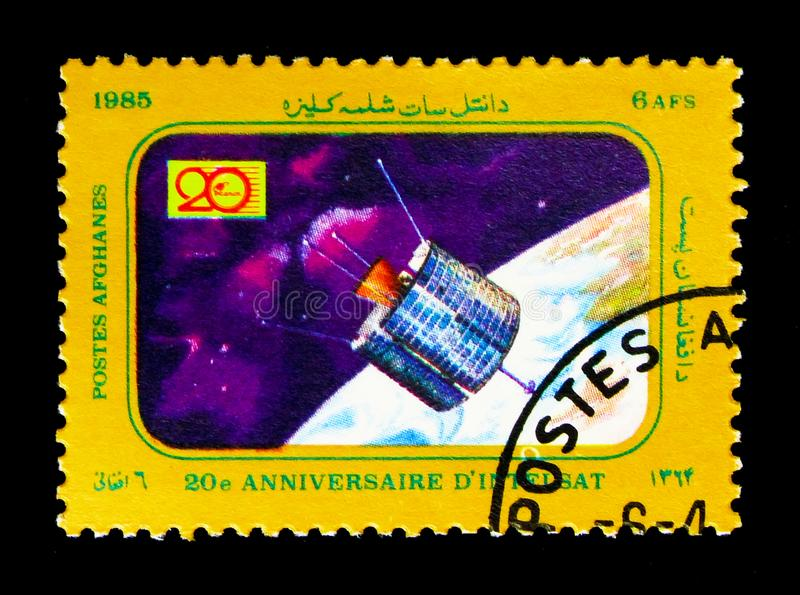 Satellite, 20th Anniversary of 'Intelsat' Communications Satelli stock photos