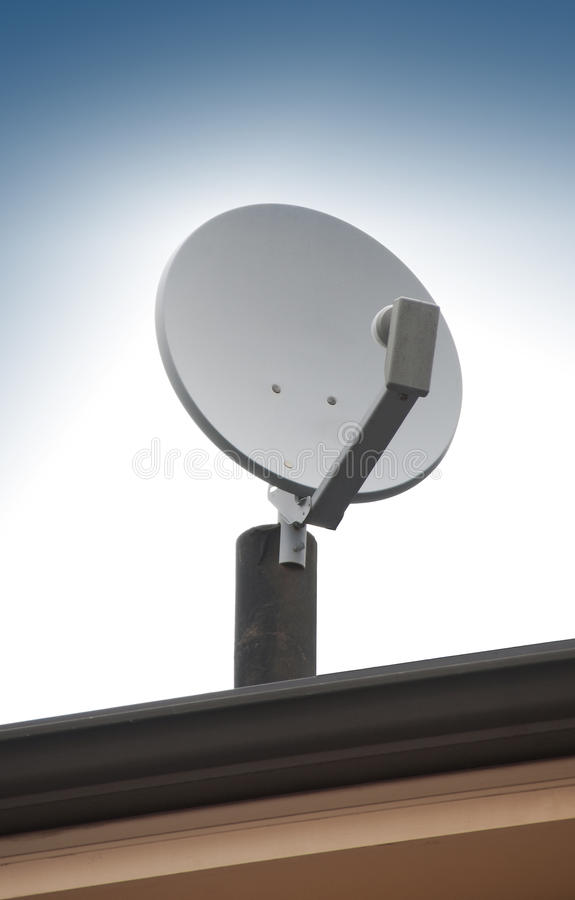Download Satellite TV Antenna On Roof Stock Photo - Image of information, internet: 25052882