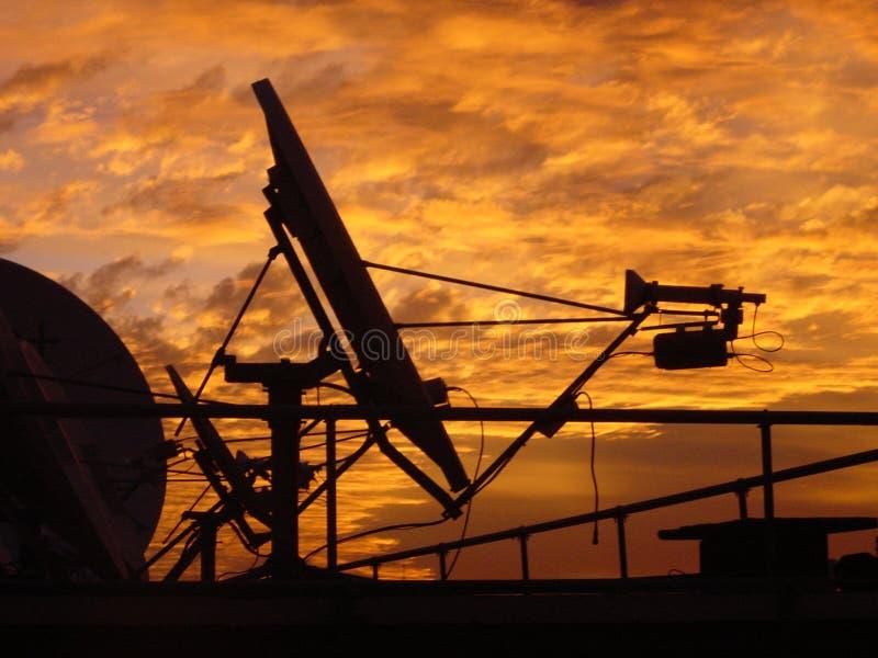 Satellitenantenne stockfotografie