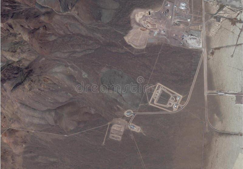 Satellitenbild von Bereich 51 lizenzfreies stockbild