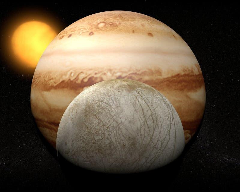 Satelliteneuropa, Jupitermond stock abbildung