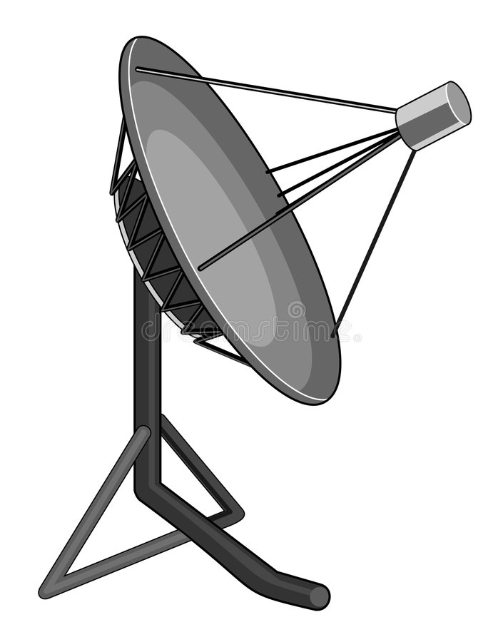Satellitenschüssel lizenzfreie abbildung