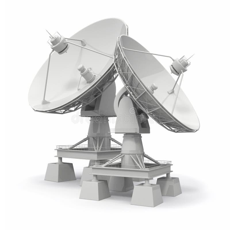 Satellitenschüssel. Communiation. lizenzfreie abbildung