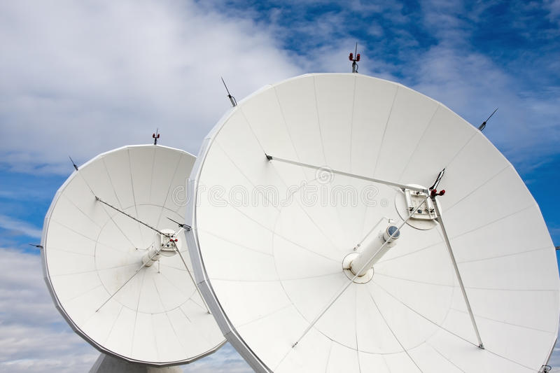Satellites at National Radio Astronomy Observatory. Satellite Dishes at National Radio Astronomy Observatory in Brewster, Washington, USA stock images