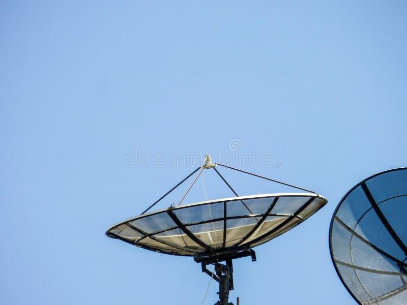 Satellites on roof royalty free stock photos
