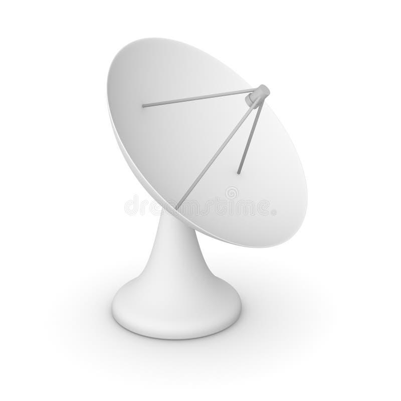 Satellitmaträtt stock illustrationer