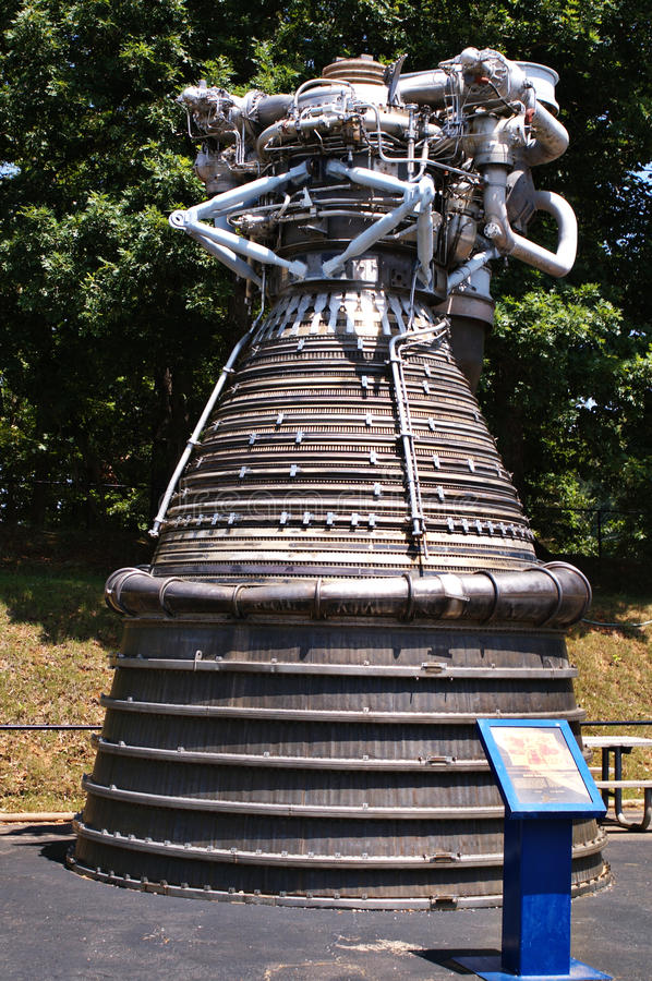 Satern F-1 Rocket Engine lizenzfreies stockbild