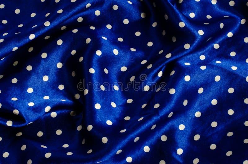 Satijn van de stip het blauwe zijde royalty-vrije stock foto's