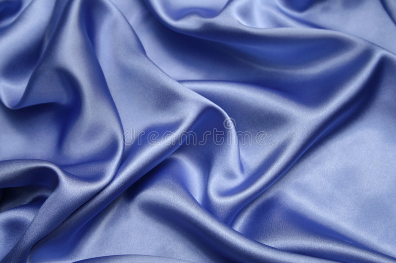 Satin bleu photographie stock