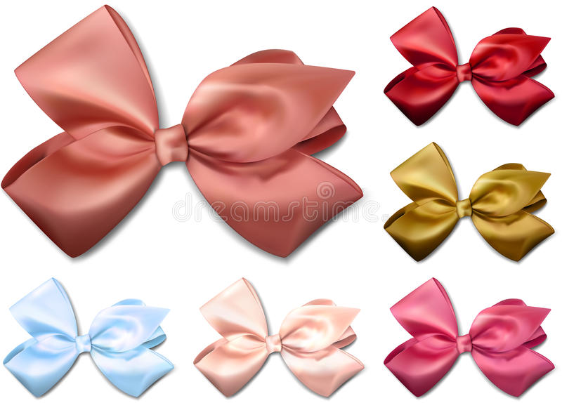Download Satin Color Ribbons. Gift Bows. Stock Vector - Illustration of decor, merry: 35568880