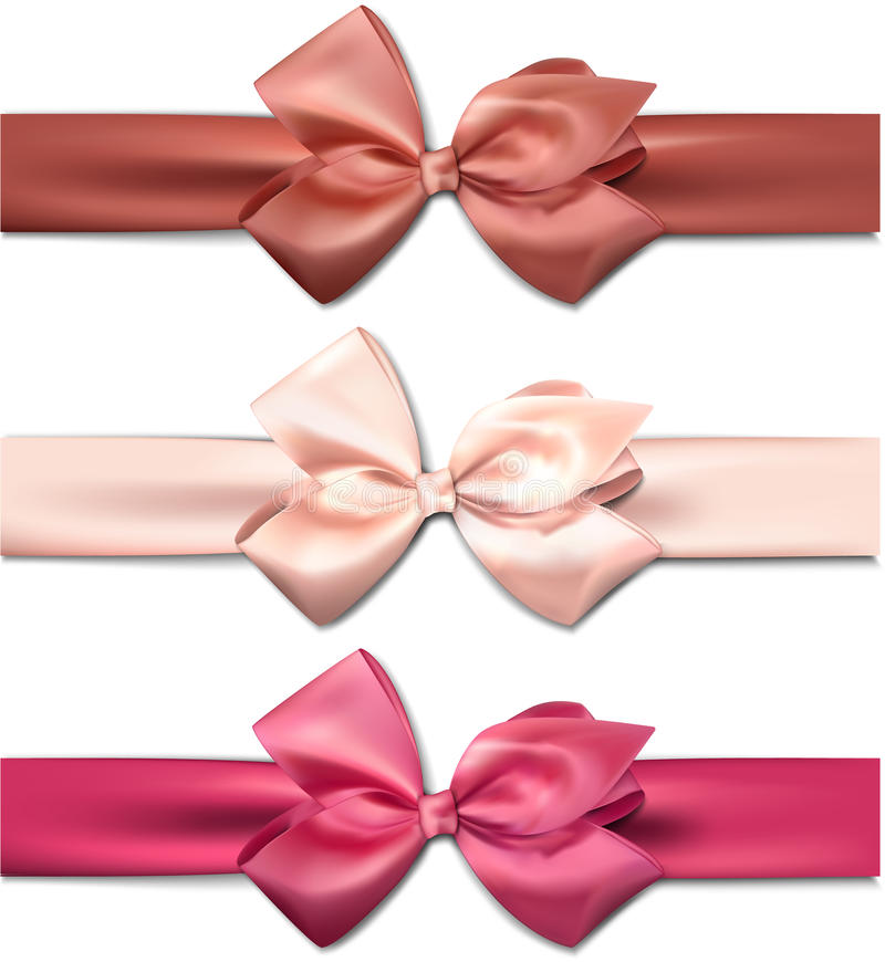Download Satin Color Ribbons. Gift Bows. Stock Images - Image: 35782364