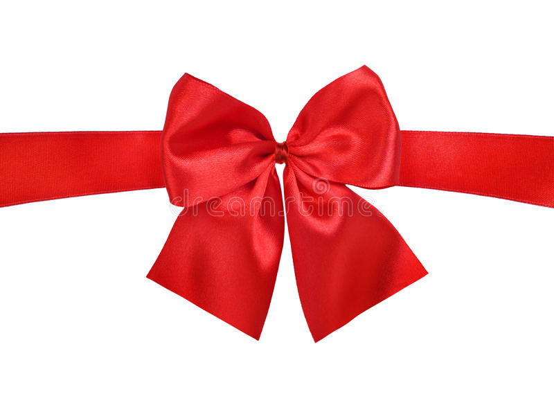 Download Satin red ribbon bow stock image. Image of season, tied - 12682921