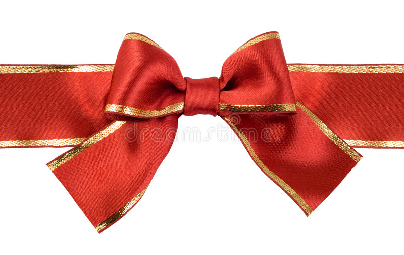 Download Satin red  ribbon bow stock image. Image of color, gift - 8998825
