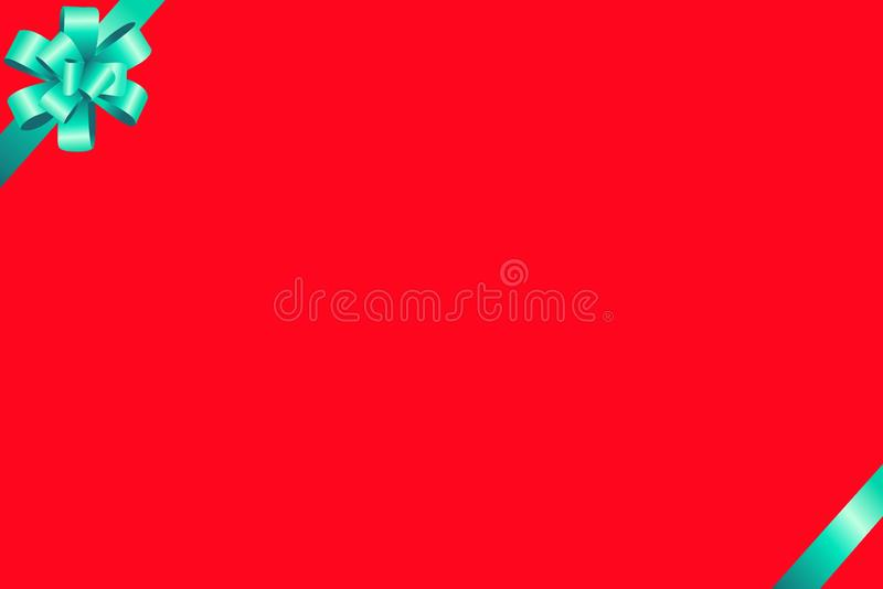 Satin ribbon on red background . template for greeting card. royalty free stock photos