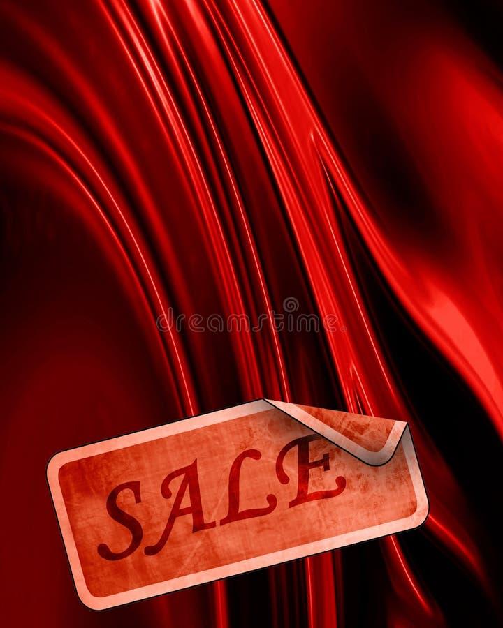 Satin rouge illustration stock