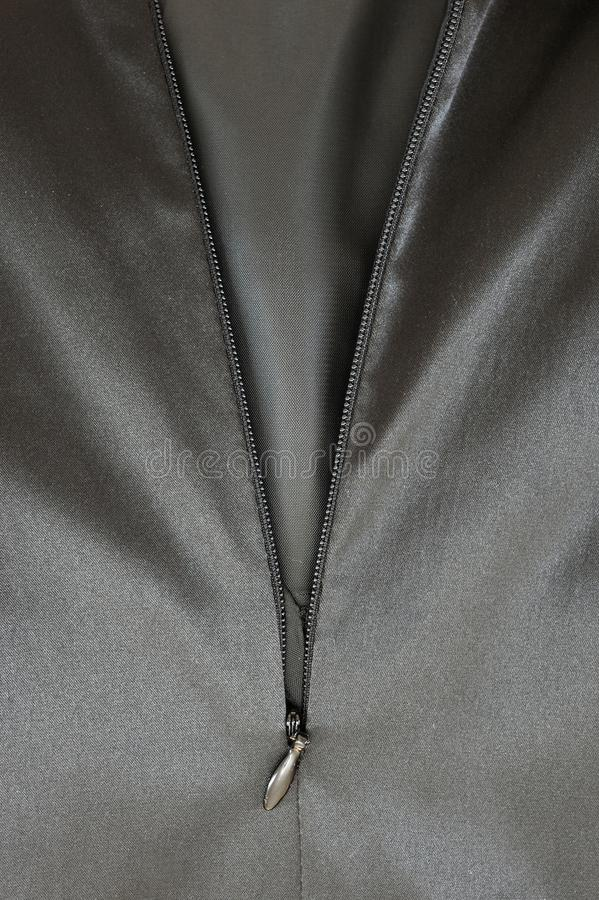 Satin Zipper stock photography