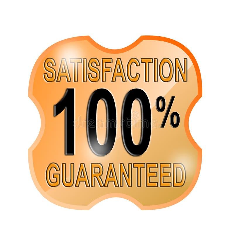 satisfação 100% garantida ilustração stock