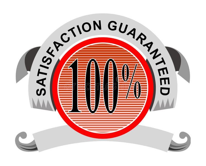 a satisfação 100% garantiu ilustração do vetor