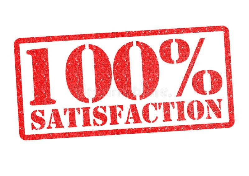 satisfação 100% ilustração stock