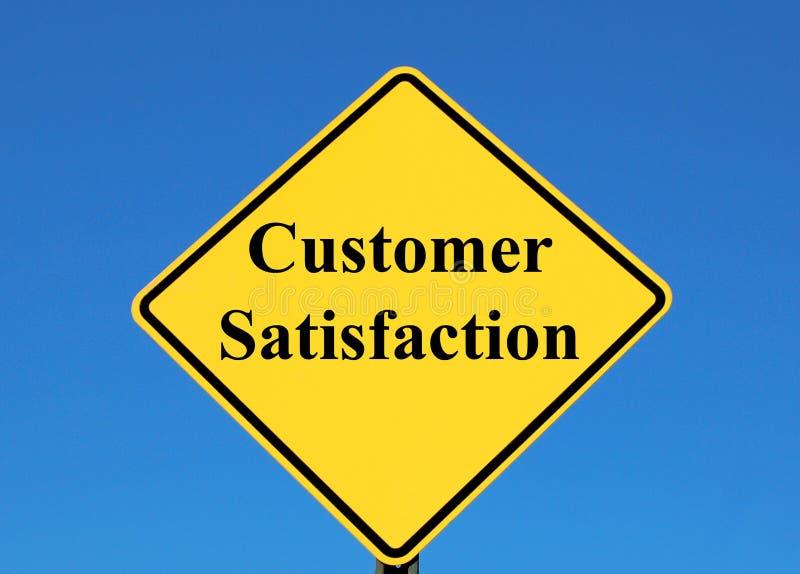 Satisfação do cliente imagem de stock