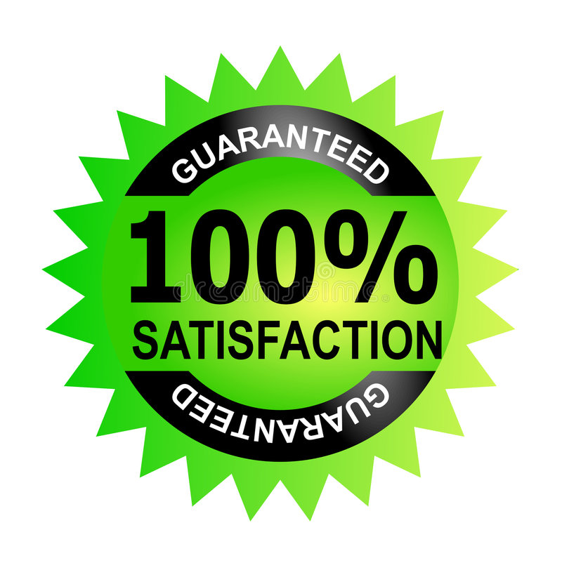 satisfaction 100% garantie illustration stock