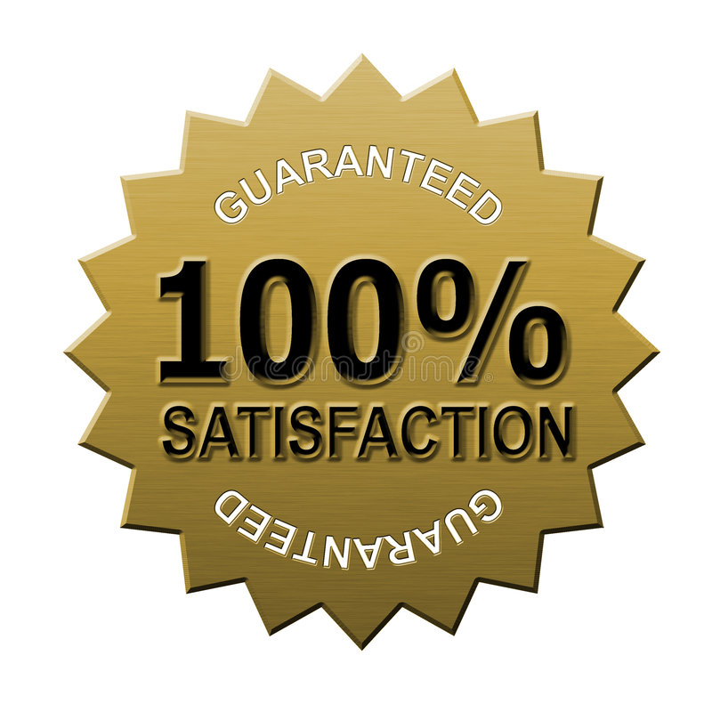 satisfaction 100% garantie illustration stock