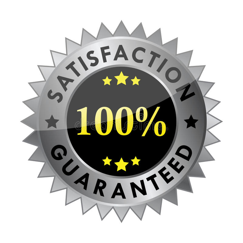 satisfaction 100% garantie (vecteur) illustration stock