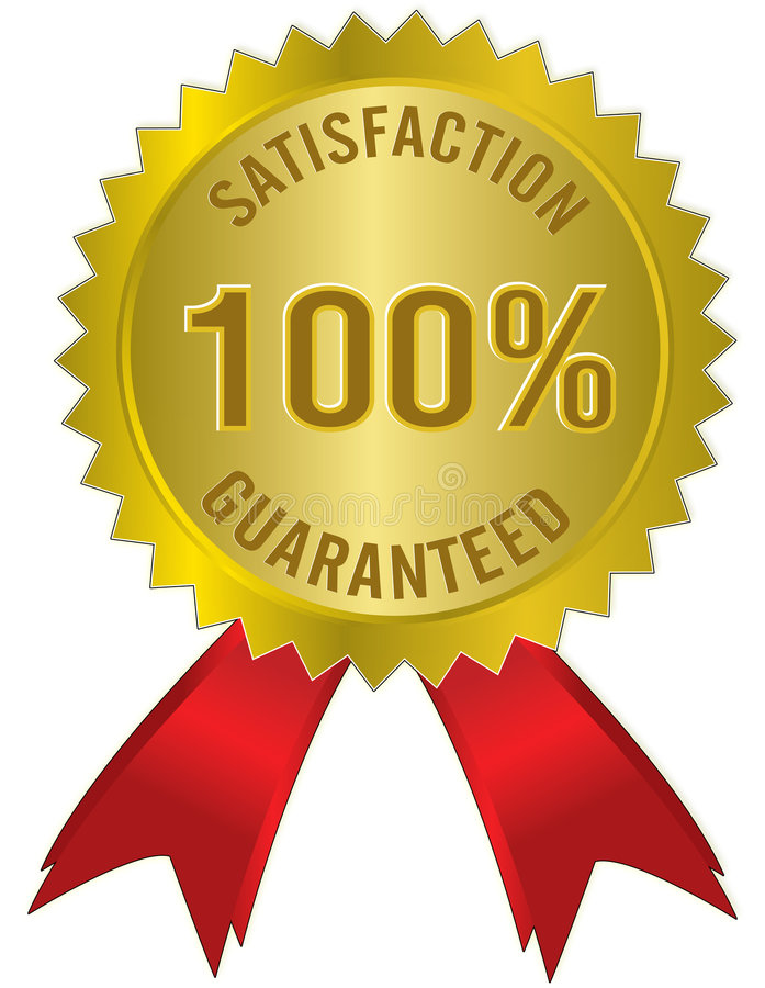 SATISFACTION GARANTIE illustration libre de droits