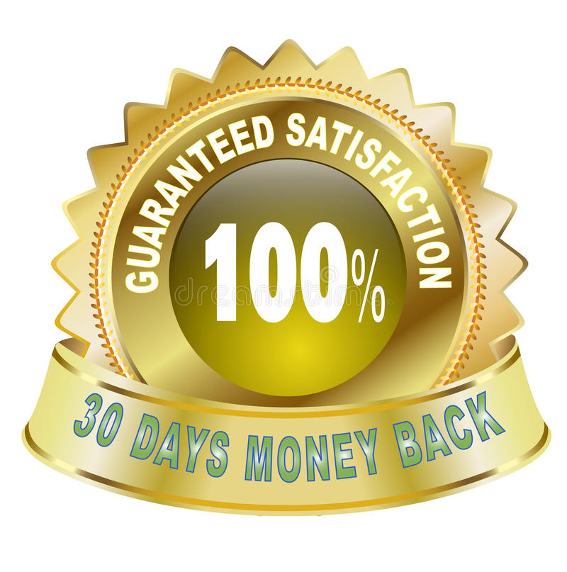 Satisfaction garantie par 100% illustration stock