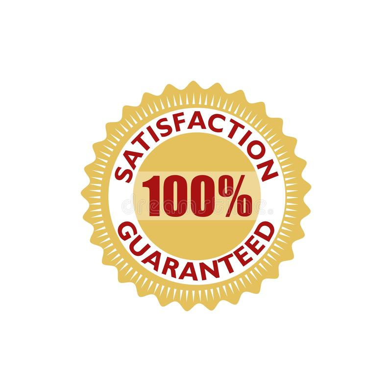 Satisfaction guarantee icon, sign, logo, button. On white background royalty free illustration