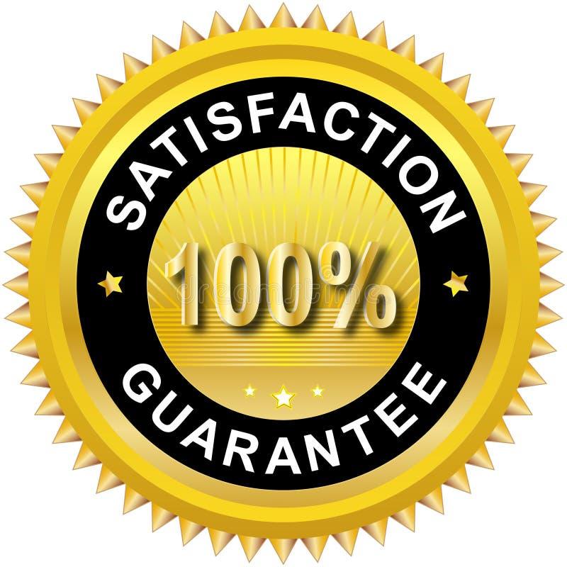 Satisfaction guarantee label. Illustration of 100% Satisfaction guarantee. Vector available