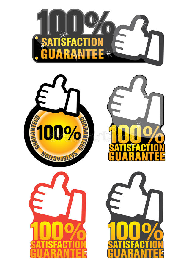 Download Satisfaction guaranteed stock vector. Illustration of gold - 13293954