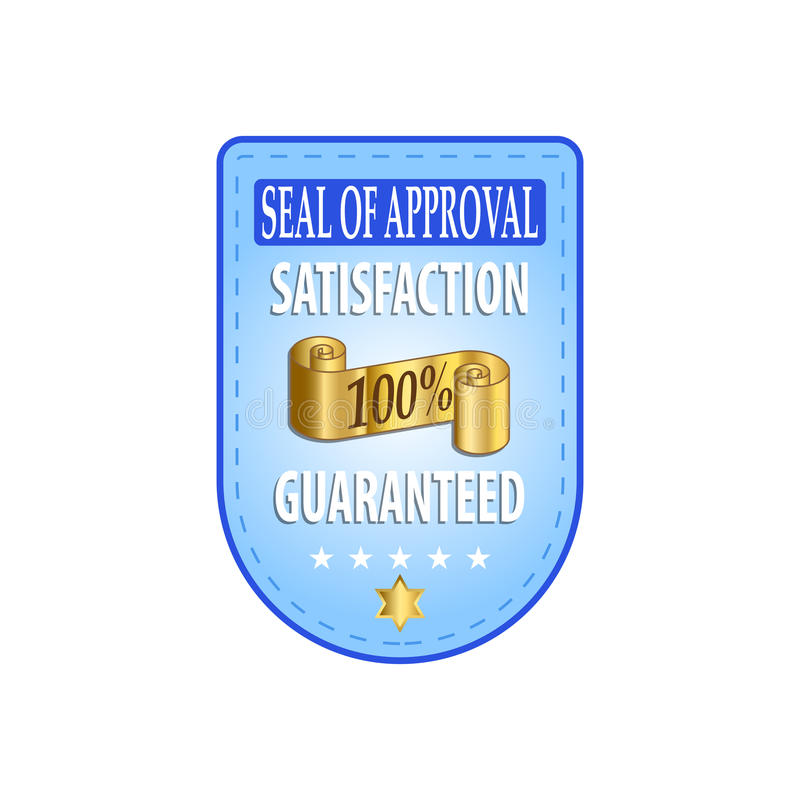 Satisfaction Guaranteed Label stock illustration