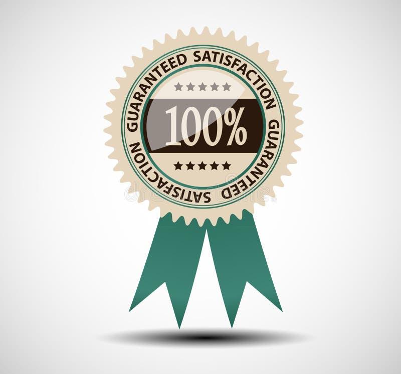 Satisfaction guaranteed label vector illustration vector illustration