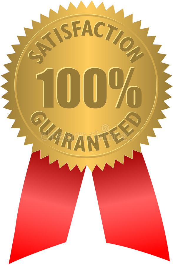 Satisfaction Guaranteed Seal royalty free illustration